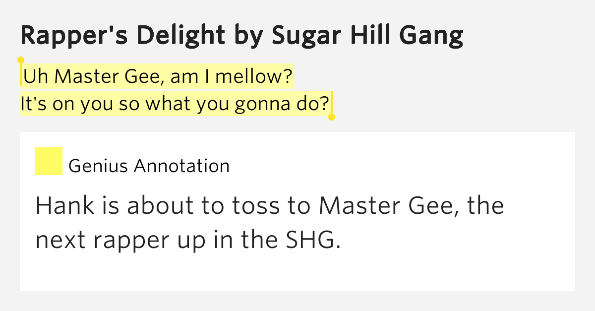 sugarhill gang lyrics