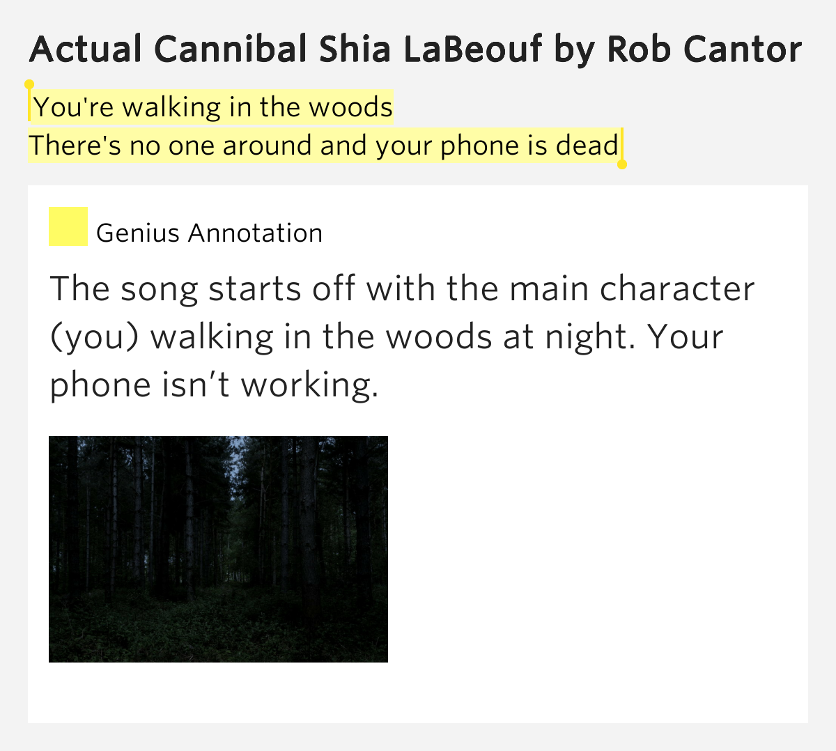 Rob Cantor - Shia Labeouf Actual Cannibal (Chords)