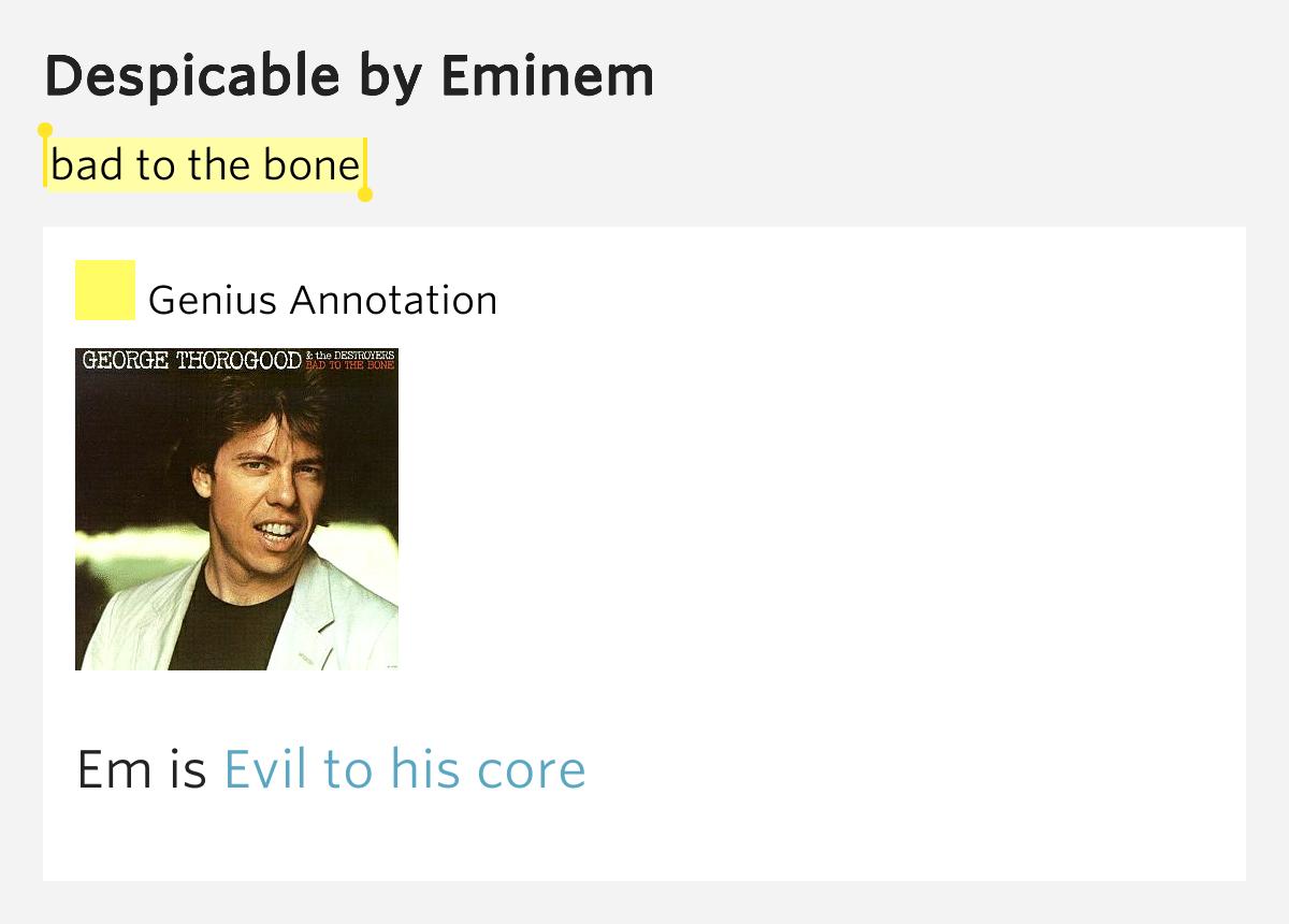 Bad To the Bone - Genius | Song Lyrics & Knowledge