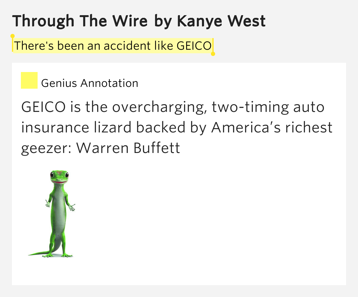 There's been an accident like GEICO – Through the Wire