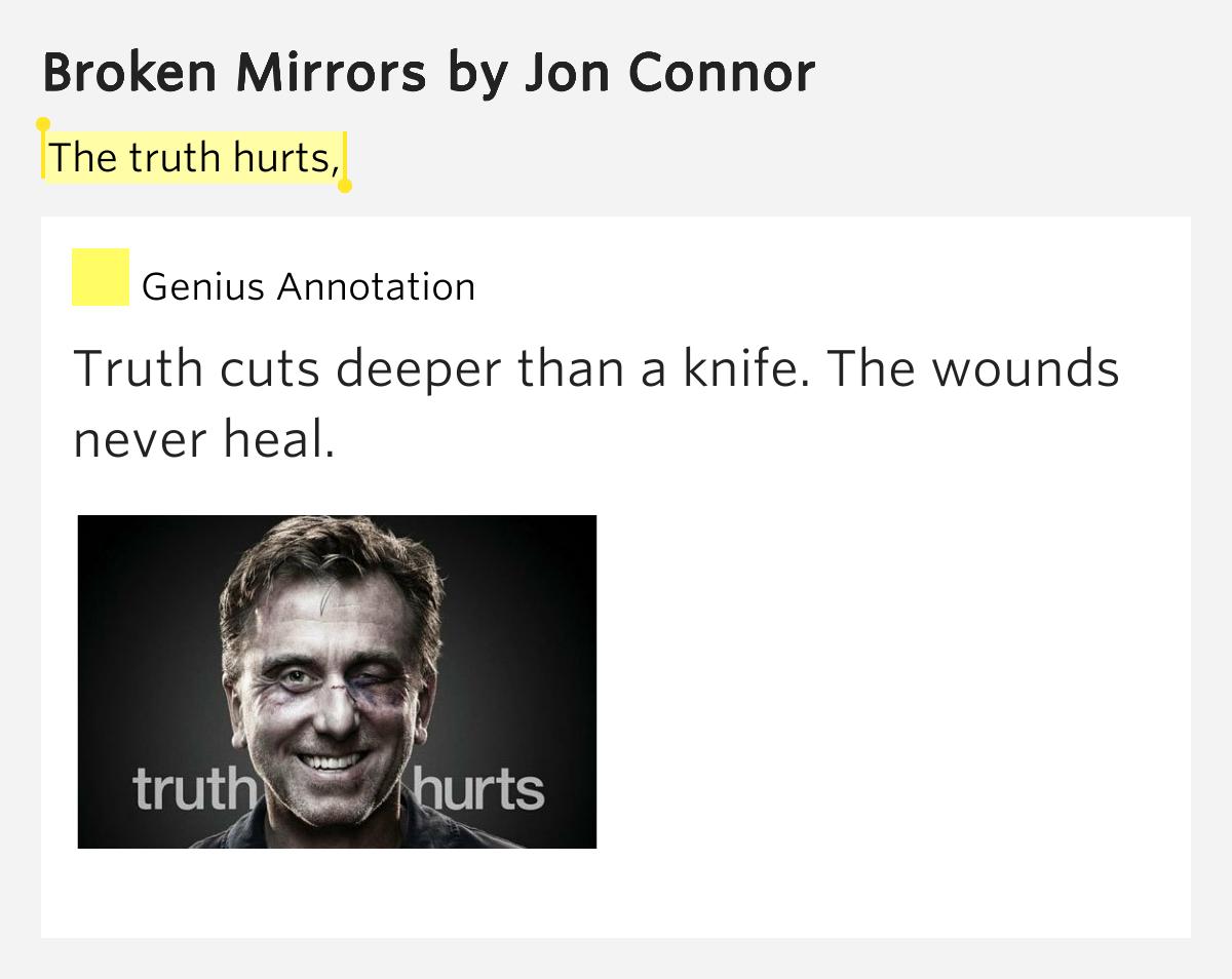 The truth hurts, - Broken Mirrors Lyrics Meaning