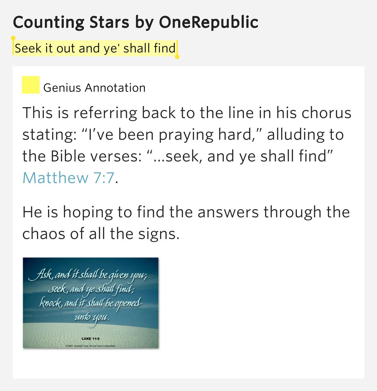 OneRepublic - Counting Stars Lyrics | SongMeanings