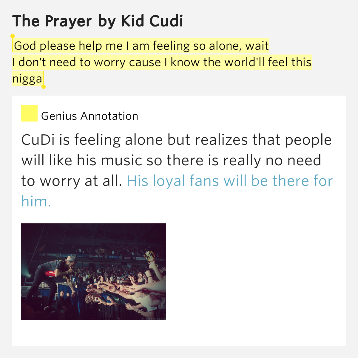 The Prayer Lyrics Meaning Kid Cudi