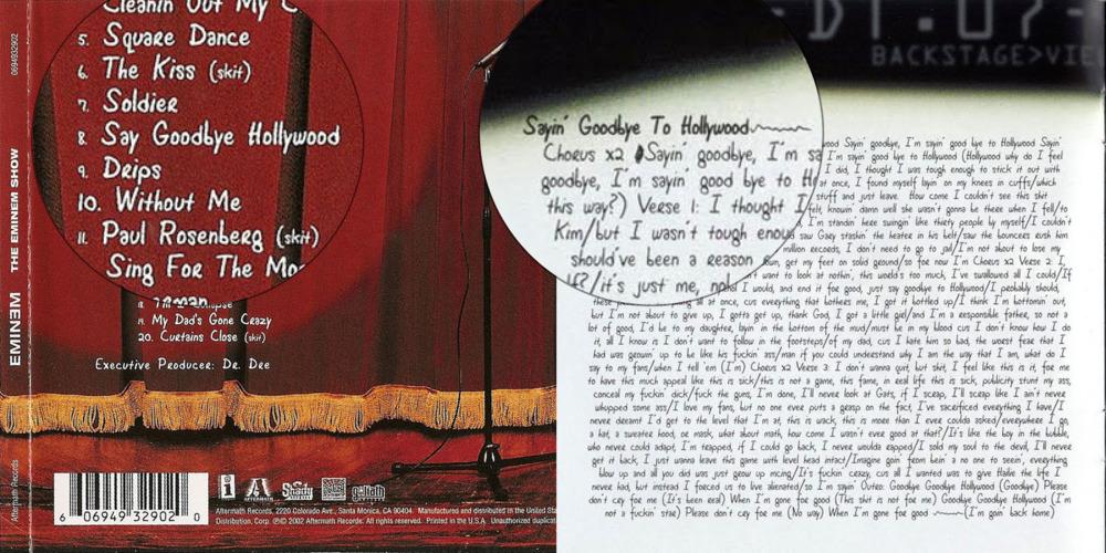Eminem – Say Goodbye Hollywood Lyrics | Genius Lyrics