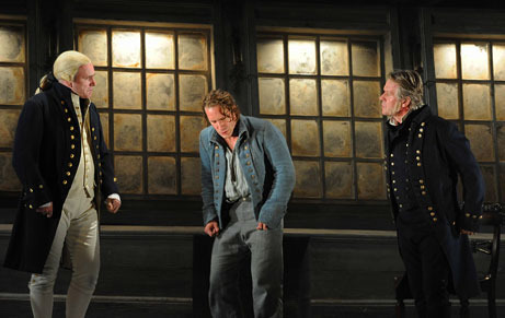 billy budd was captain vere right The captain of the ship that he was taken from, the rights-of-man, says that he   not knowing what to say to defend himself, billy budd struck claggart on the.