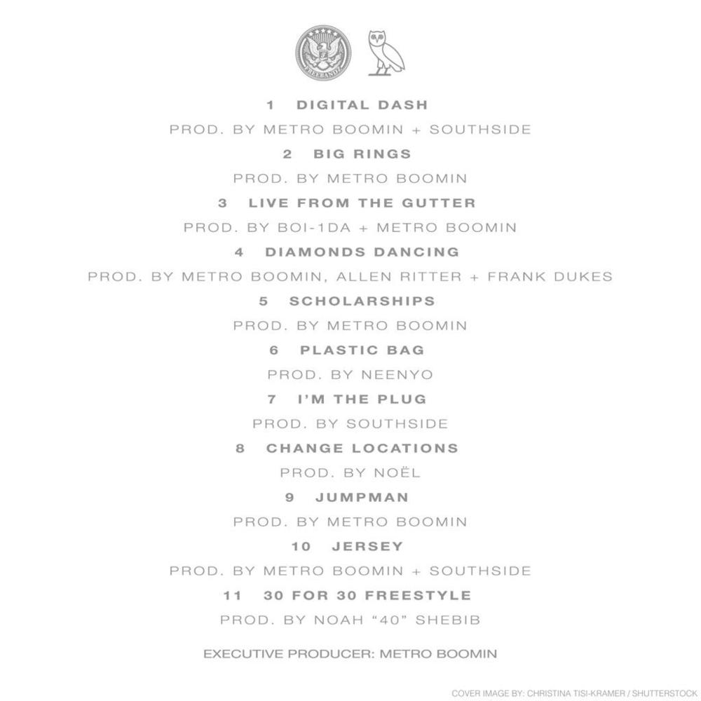 drake & future – what a time to be alive [tracklist + album cover