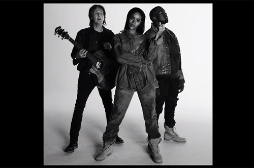 Rihanna, Kanye West & Paul McCartney – FourFiveSeconds Lyrics