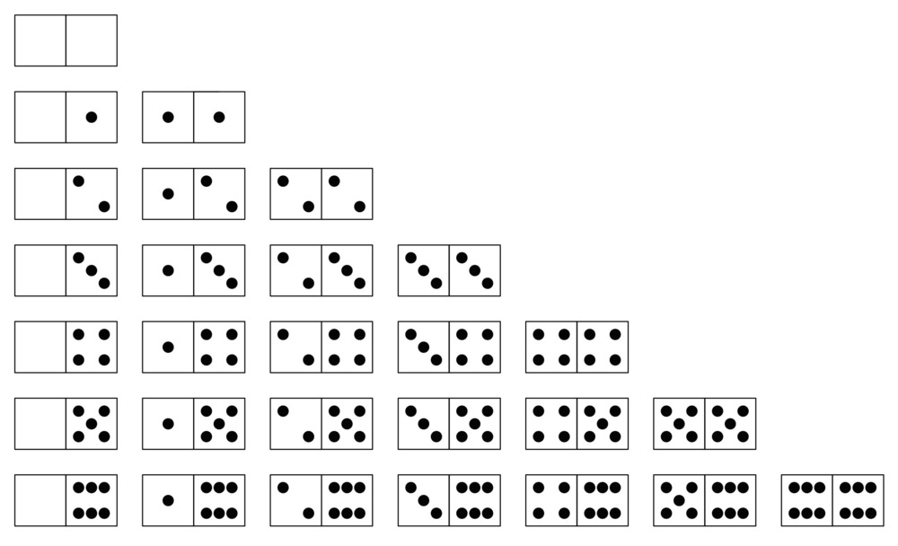 Now please, domino, domino / Only spot a few blacks the higher I ...
