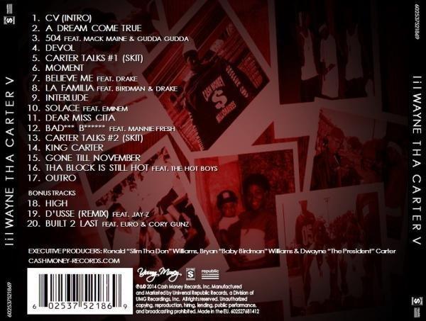 download lil wayne carter 5 songs