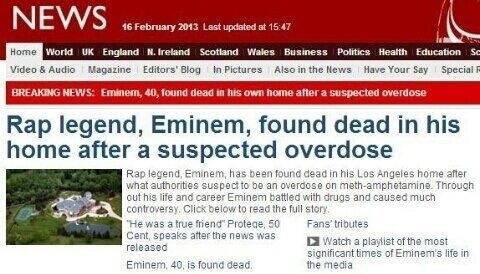 Eminem Died | Genius  Eminem Proof Death
