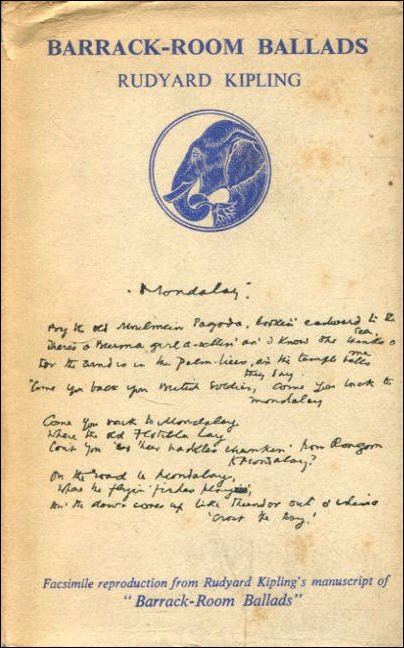 Rudyard Kipling Mandalay Genius