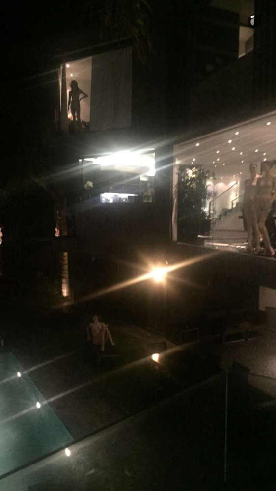 the nigga missin kylie or some shit but its really weird theyre just  scattered around his house