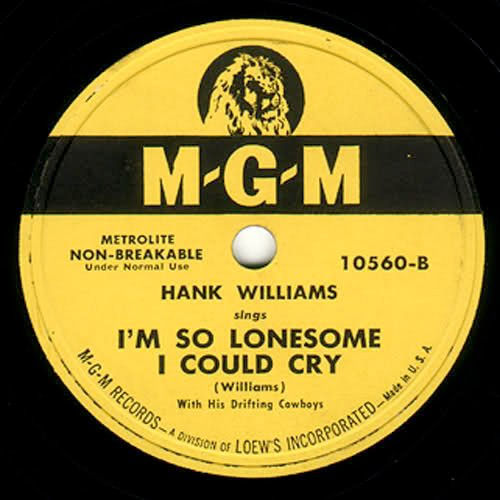 I M So Lonely: I'm So Lonesome I Could Cry Lyrics