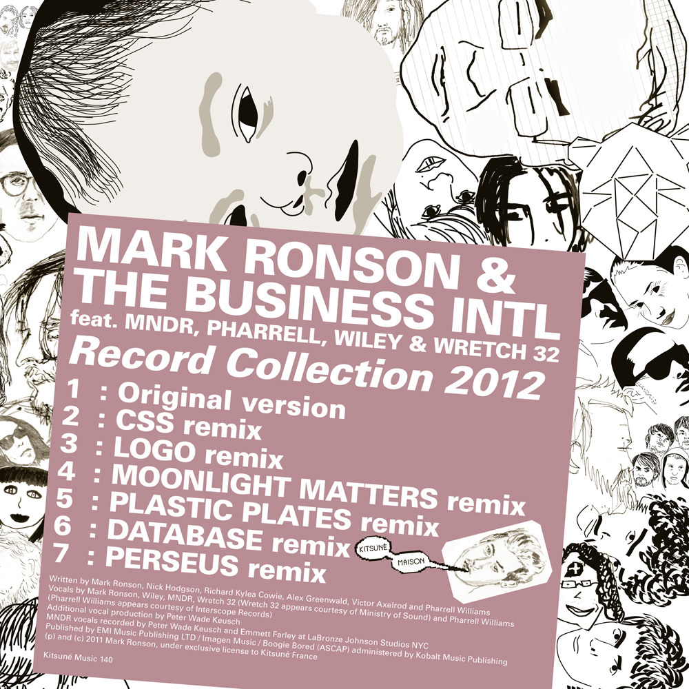Mark Ronson Record Collection 2012 Lyrics