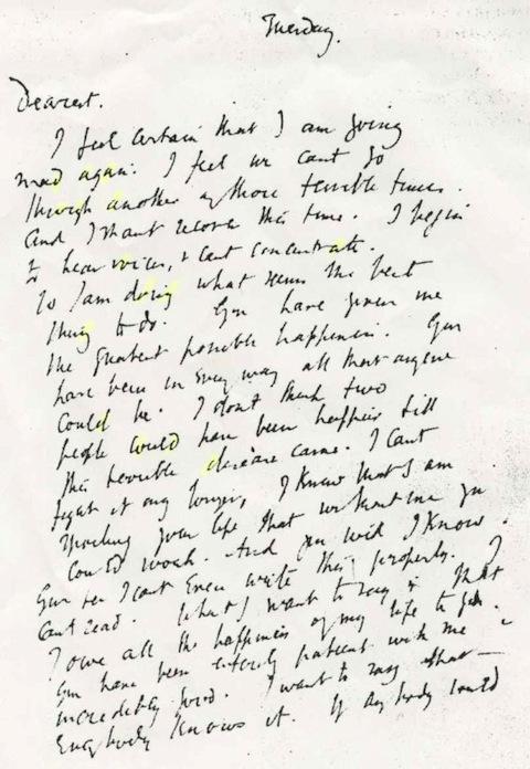 virginia woolf – suicide letter | genius