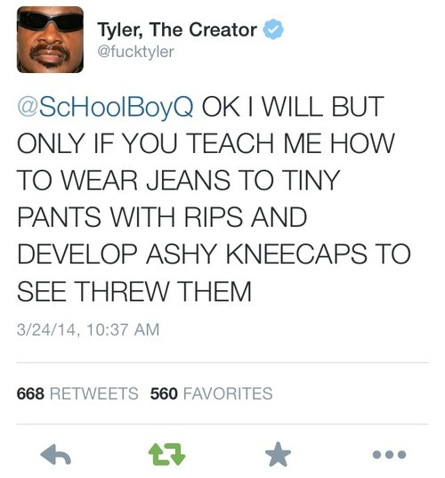 44fe3fd1c206 ScHoolboy Q   Tyler The Creator making fun of each other on Twitter ...
