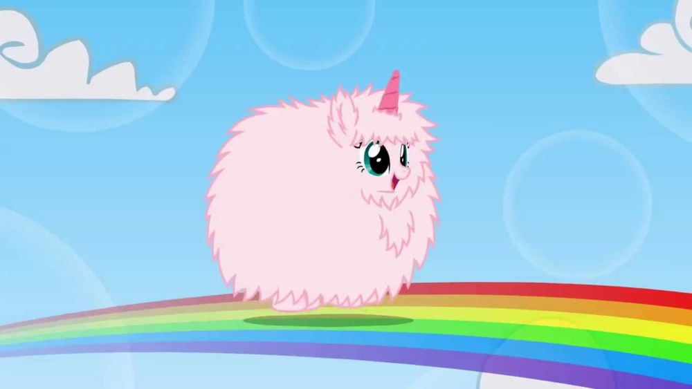 Andrew Huang - Pink Fluffy Unicorns Dancing on Rainbows