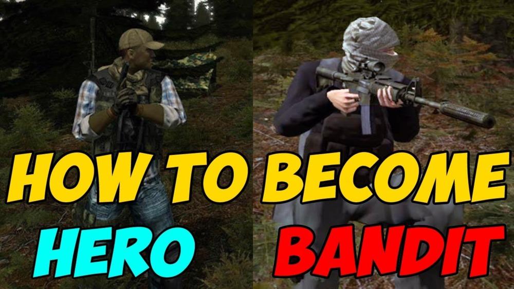 Dayz hero vs bandit signs
