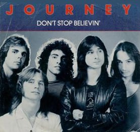 Dont stop believin lyrics by journey