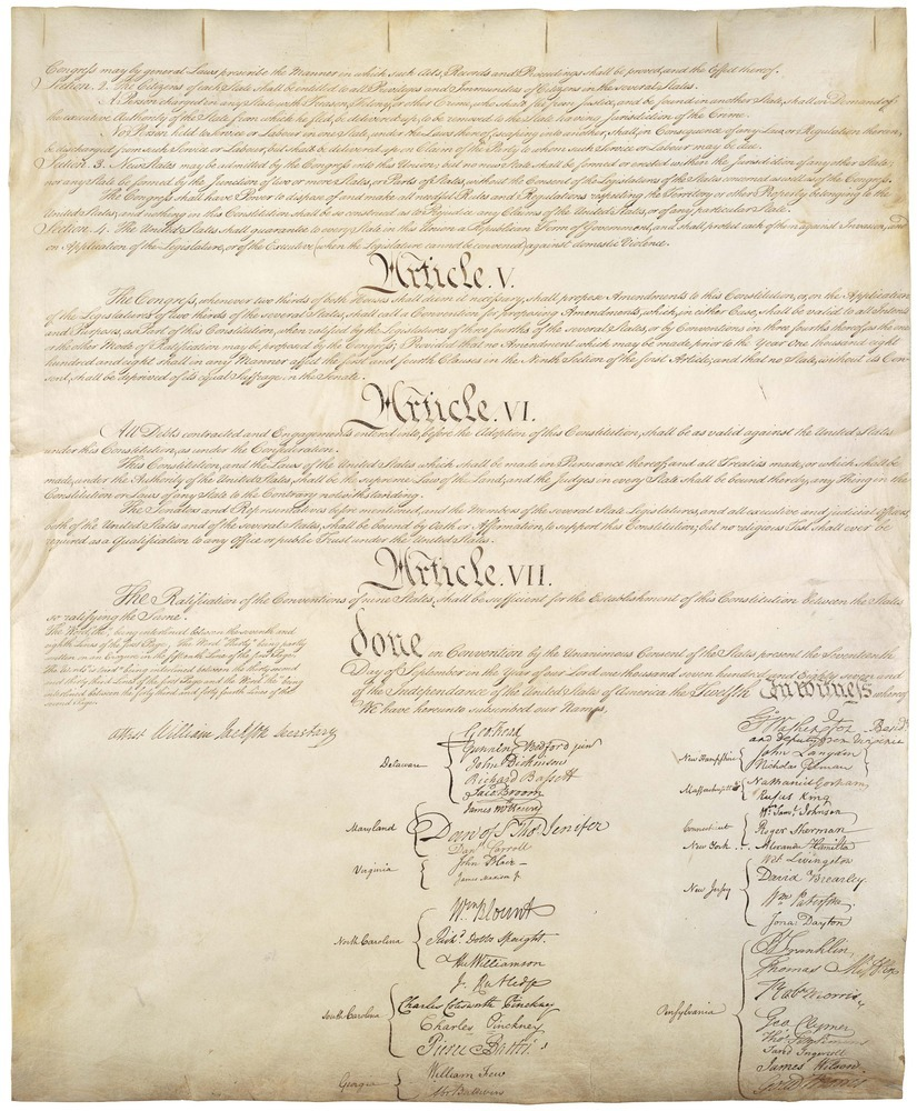 us constitution vs the articles of Six years after the ratification of the articles of confederation, which  are the 34  continental congress delegates who signed the united states constitution.