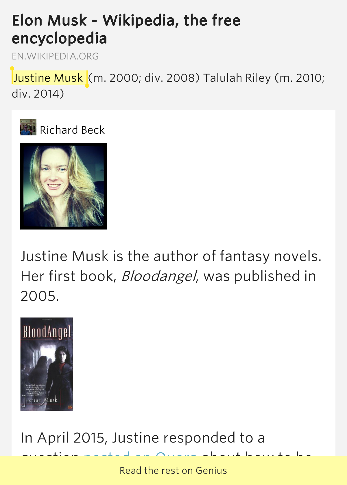Justine musk wikipedia the free encyclopedia download for The free wikipedia