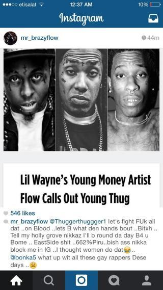 Flow of YMCMB threatens Young Thug   Genius