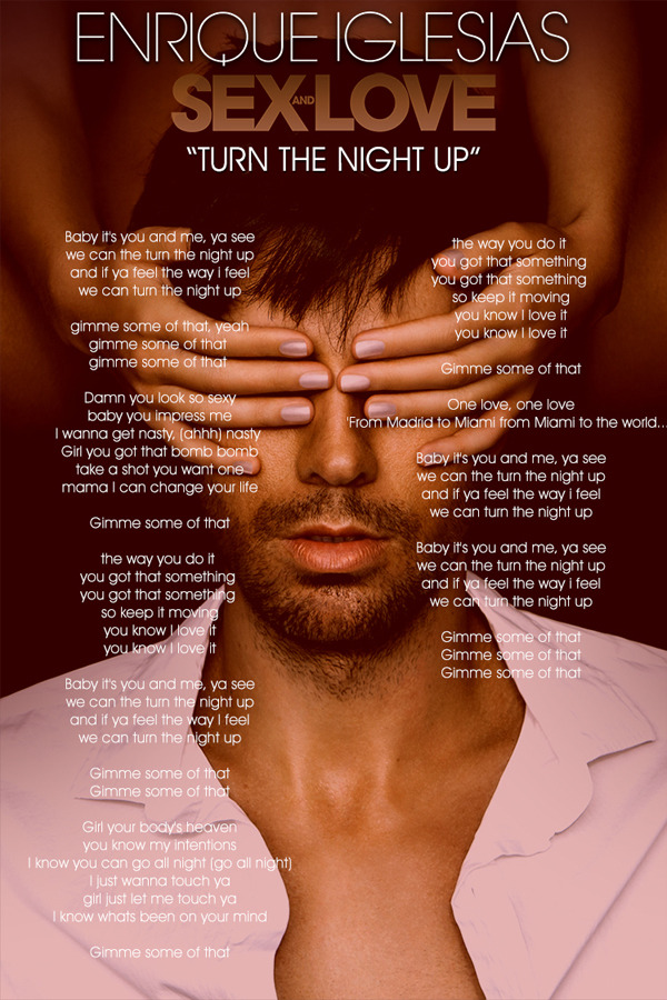 Enrique Iglesias – Turn the Night Up Lyrics | Genius Lyrics