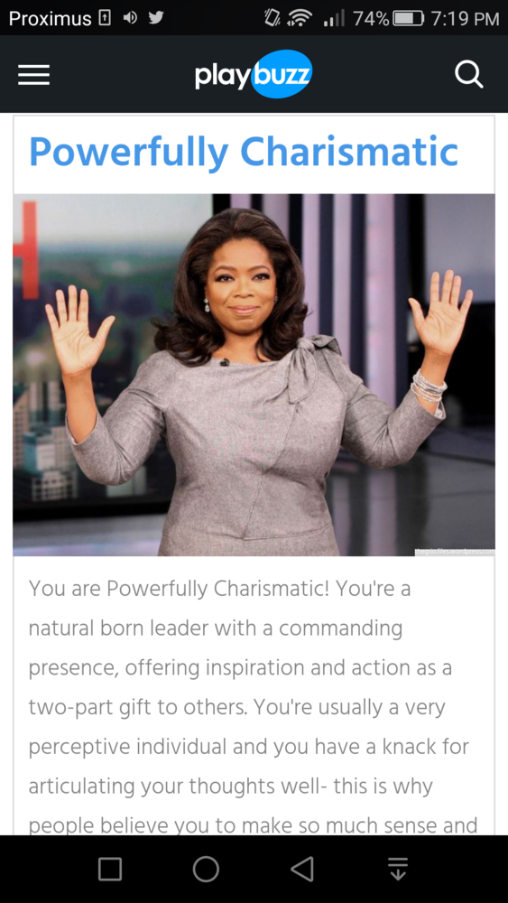 are you charismatic