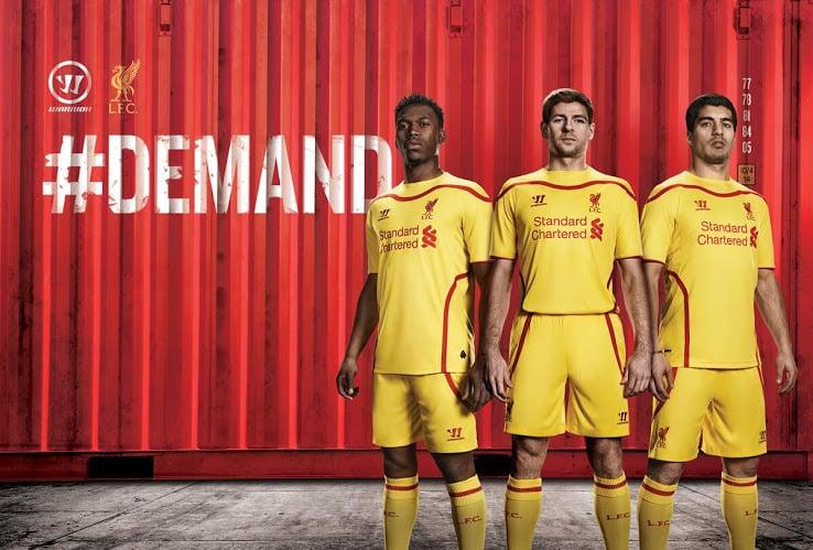 284116c26 2014 15 liverpool fc 7 suarez home soccer shirt kit