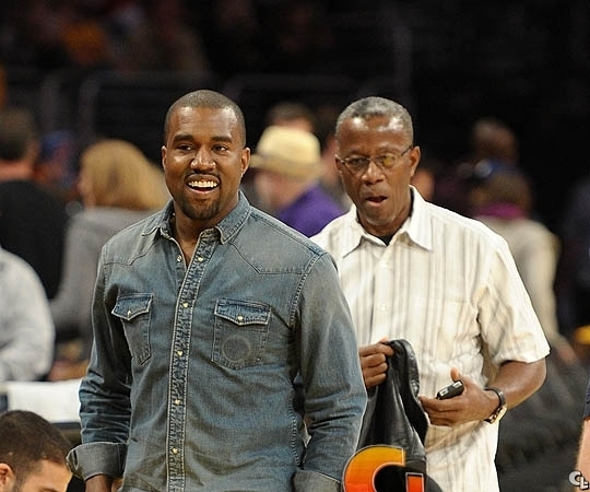 Photo of Kanye West & his  Father  Ray West