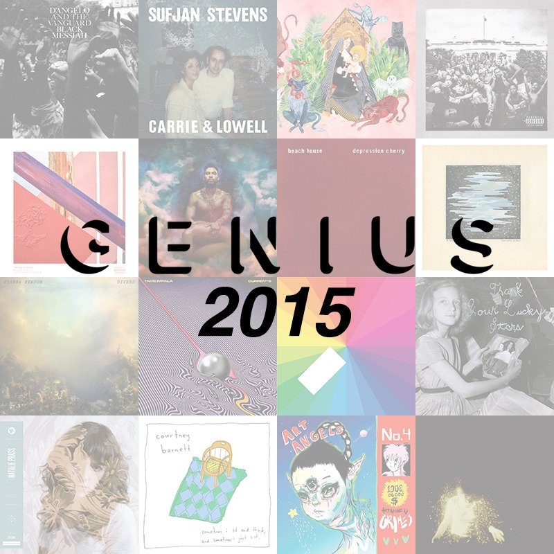 Cover art for 20 Best Albums of 2015 by Genius