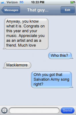 Kendrick 39 s text answers to macklemore genius for 51090 text