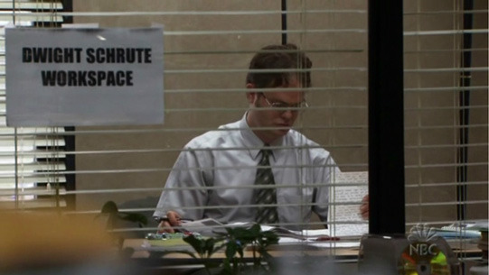 Dwight as acting manager