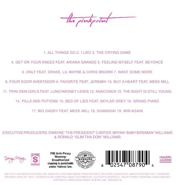 Nicki Minaj – The Pinkprint [Tracklist + Album Art] | Genius