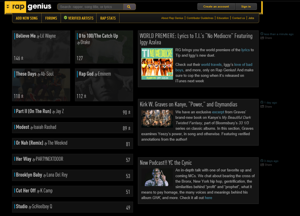 What caused rap genius forums to fall off? | Genius