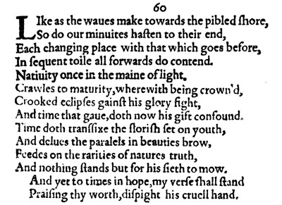 William Shakespeare – Sonnet 60 | Genius