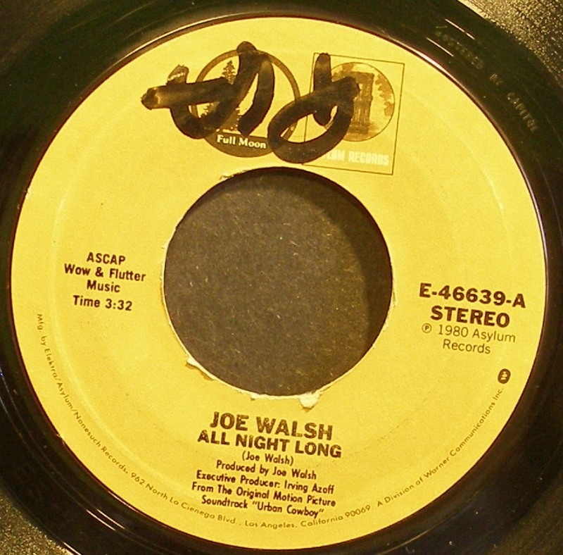 Joe Walsh All Night Long Video