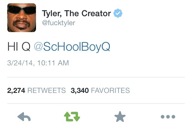 21f19c8ebd6a ScHoolboy Q   Tyler The Creator making fun of each other on Twitter LMAO