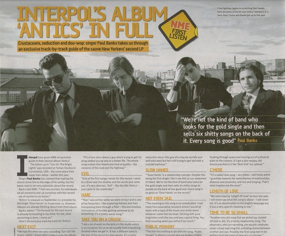 Interpol – Take You on a Cruise Lyrics | Genius Lyrics