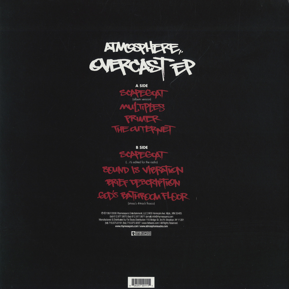 Atmosphere Overcast 1997 Review By Robb Mc Genius