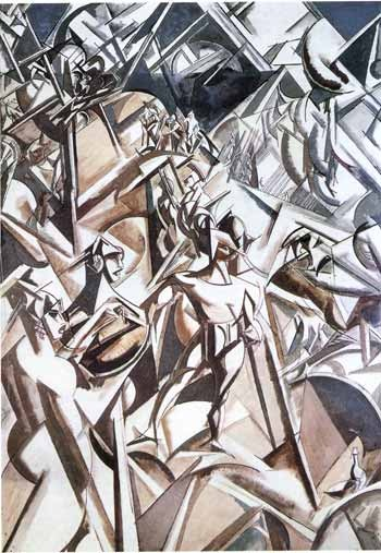 Wyndham Lewis: futurist drawing of Timon of Athens (courtesy genius.com)