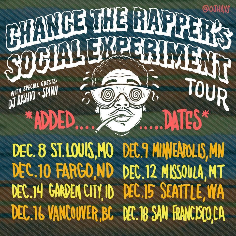 Chance the rapper tour dates