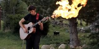 Image result for lighting logs on fire with flame thrower