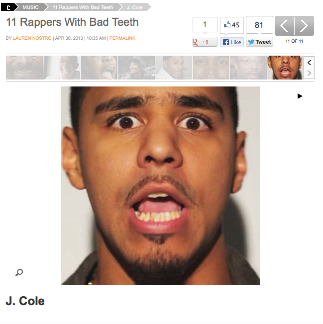 J Cole Eyebrows J. Cole – Cro...