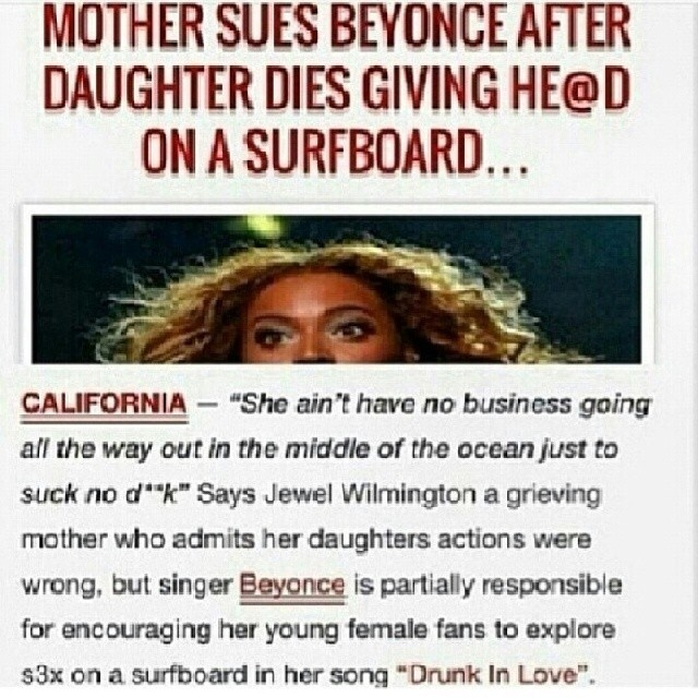 Mother Sues Beyonce Seriously Check This Genius
