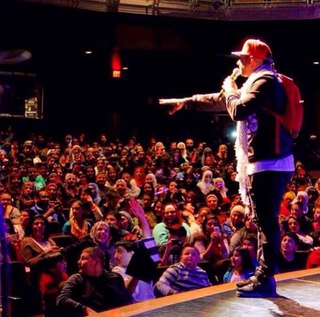 Yousef Erakat on stage