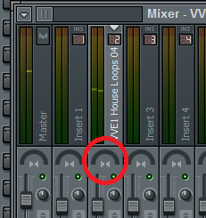Effect in FL Studio to make an instrument pan from left to