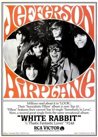 "an overview of the song white rabbit by the band jefferson airplane When grace slick wrote ""white rabbit"" in late 1965, she never imagined the  song would pave the way for psychedelic rock and inspire several."