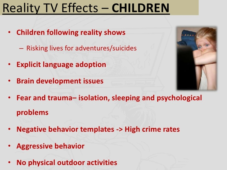 negative social effects of reality tv on society