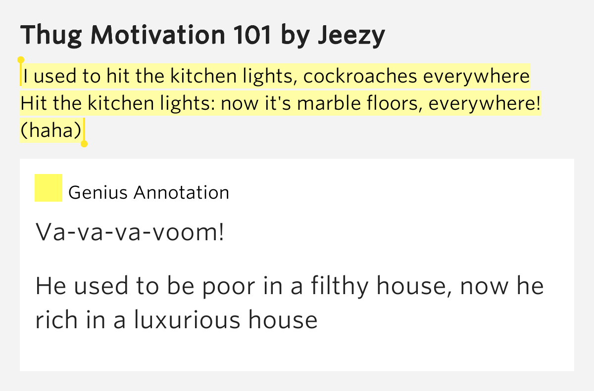 hit the kitchen lights cockroaches everywhere i used to hit the kitchen lights thug motivation 101 8389